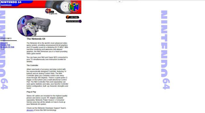 Nintendo 64 site