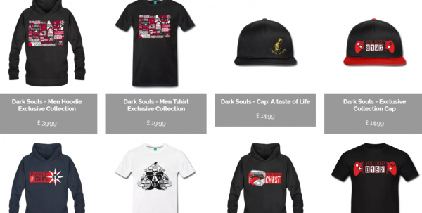 Dark Souls Clothing Line