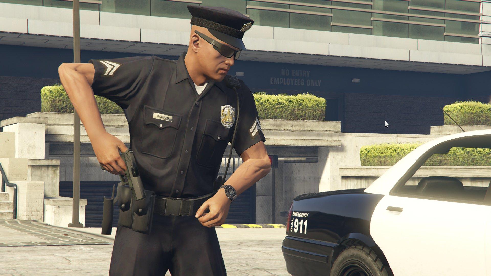 Grand Theft Auto V cops