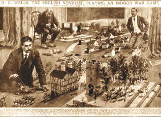 H.G Wells playing war game