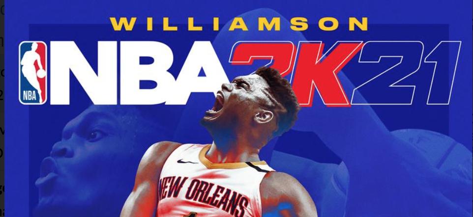 nba 2k21 Zion Williamson cover