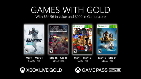 games with gold μαρτίου 2021